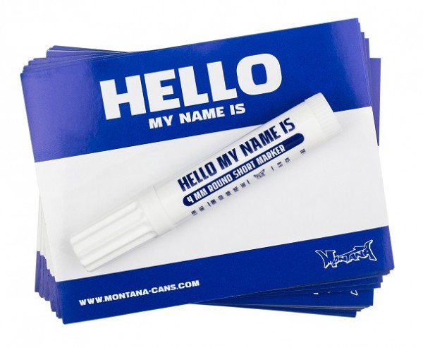 Sticker Hello My Name - BLUE