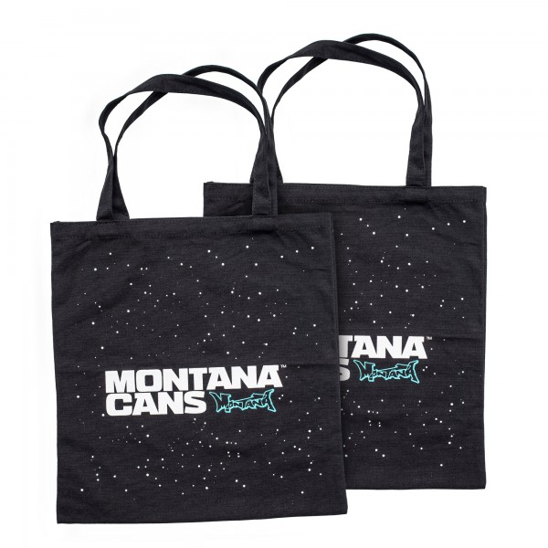 Cotton Bag - Logo and Stars Black