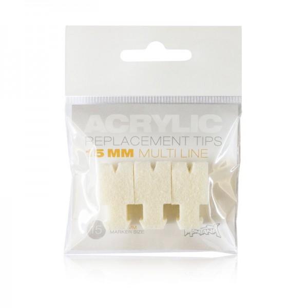 Montana ACRYLIC Tip Set 15mm Multi Line